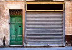 Old store front. Nice facade Royalty Free Stock Images