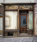 Old store front. Space for text stock photo
