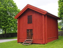 Old storehoiuse. An old swedish storehouse. Painted red Royalty Free Stock Image