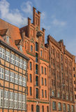 Old storehouses at the quay in Lubeck. Germany Royalty Free Stock Image