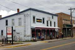 Old stores in downtown floyd Stock Photography
