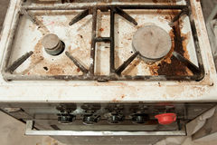 The old stove all dirty Stock Image