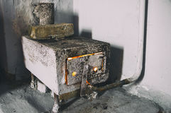 Old stove-heater Royalty Free Stock Photography
