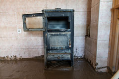 Old Stove left alone after natural disaster Royalty Free Stock Image