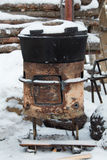 Old stove outside Royalty Free Stock Image