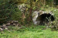 Old stove, Slovenia. Ruins of Soteska castle, old stove, Slovenia stock image