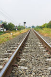 Old straight railway Stock Photography