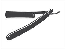Old Straight razor vector Stock Photography