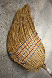 Old straw broom Royalty Free Stock Photo