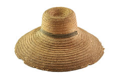 Old straw hat Stock Images