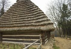 Old Straw House. In Shevchenko park, Lviv, Ukraine Royalty Free Stock Images