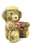 Old straw teddy bead Stock Photography