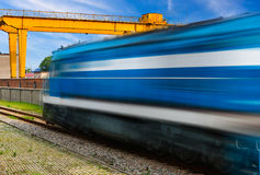Old strea train that runs Royalty Free Stock Photography