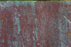 Old, streaked, painted and weathered metal background. Texture Royalty Free Stock Photography