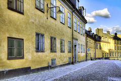 Old street. Cobblestone street in the old part of the city stock photography