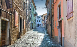 The old street. An old street in the Croatian town of Motovun Stock Photo
