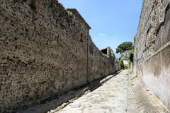 Old street. Of Pompeii, Naples,Italy Stock Photo