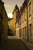 Old street. Central Europe, old town street Royalty Free Stock Photos
