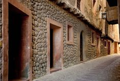 Old street in Albarracin Royalty Free Stock Photos