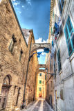 Old street in Alghero Stock Images