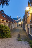Old street in Alkmaar Netherlands Stock Images