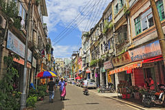 Old street in amoy city Stock Photo