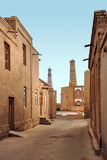 Old street in the ancient city of Ichan-Kala Royalty Free Stock Photography