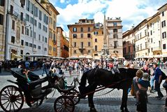 Old street of the ancient Rome city Royalty Free Stock Images