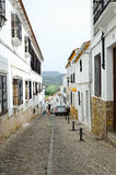 Old street of the ancient Ronda above the valley Stock Images