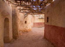Old Street in an ancient settlement. In Ouarzazate, Morocco Stock Image