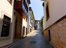 Old street in Antalya, Turkey Stock Images