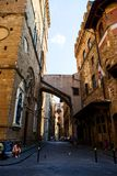 Old street with arched passage way, Florence. Italy Stock Photo