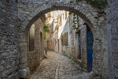 Old street in Bale town Royalty Free Stock Photos