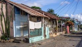 Old street in Baracoa Cuba stock photos