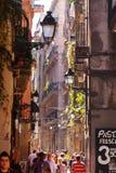 Old street in Barrio Gotico. Barcelona, Spain Stock Image
