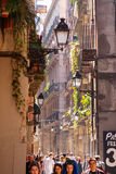 Old street in Barrio Gotico. Barcelona Royalty Free Stock Image