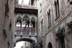 Old Street in Barselona. Spain Stock Image
