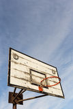 Old Street basketball basket Stock Image