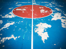 Old street basketball court in park Royalty Free Stock Image