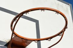 Old Basketball ring stock image