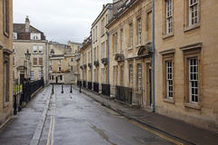 Old street in Bath,. England with its typical Georgian architecture , UK Royalty Free Stock Images