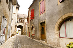 Old street Beaulieu-sur-Dordogna France stock photos