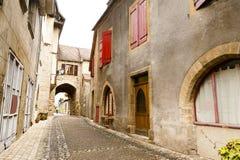 Old street Beaulieu-sur-Dordogna France Stock Photos