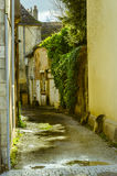 Old street on beaune, burgundy, France Stock Images
