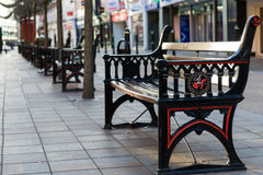 Old street bench Royalty Free Stock Photos