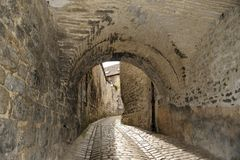 Old street in Besancon, Franche-Comt� Stock Image