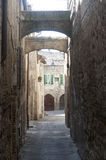 Old street in Bevagna Royalty Free Stock Photos