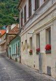 Old street in Brasov, Romania. Stock Photo