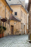 Old street in Brasov, Romania Royalty Free Stock Images