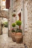 Old street in Budva. Stari Grad, Montenegro Royalty Free Stock Image